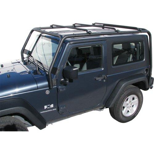 J022 Trail FX Black Roof Rack Jeep Wrangler Unlimited