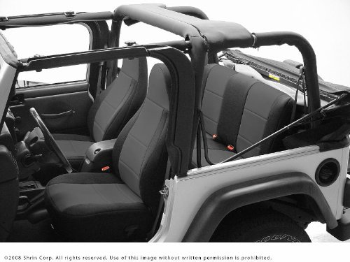 97 06 Jeep Wrangler TJ Coverking Neoprene Custom Fit Seat Covers FRONT U0026  REAR
